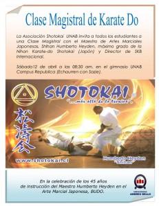 Clase Magistral Shotokai