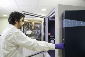 Alumnos en laboratorios